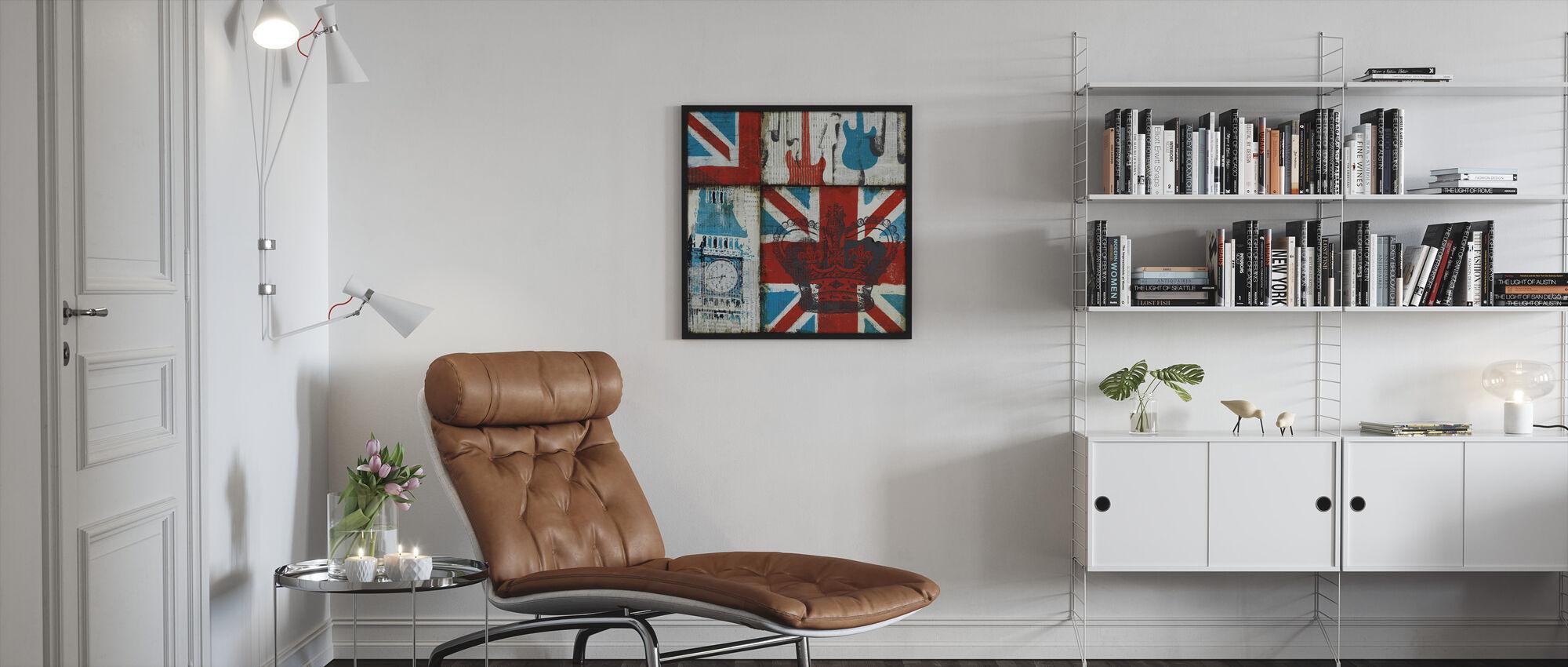 Brittiläinen Rock I - Kehystetty kuva - Olohuone