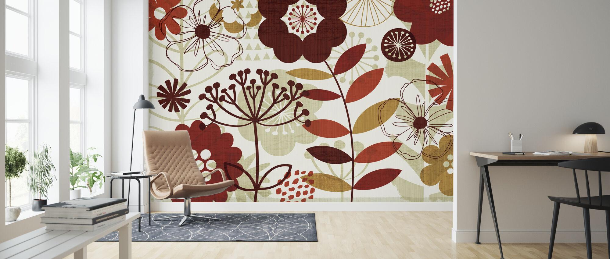 Floral Pop I - Wallpaper - Living Room