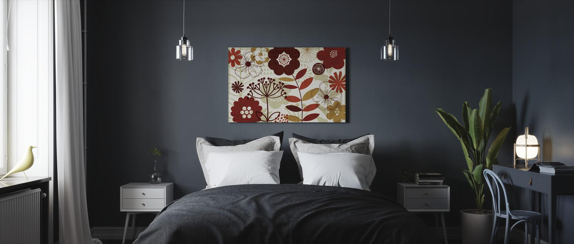 Kukka-Pop I - Canvastaulu - Makuuhuone