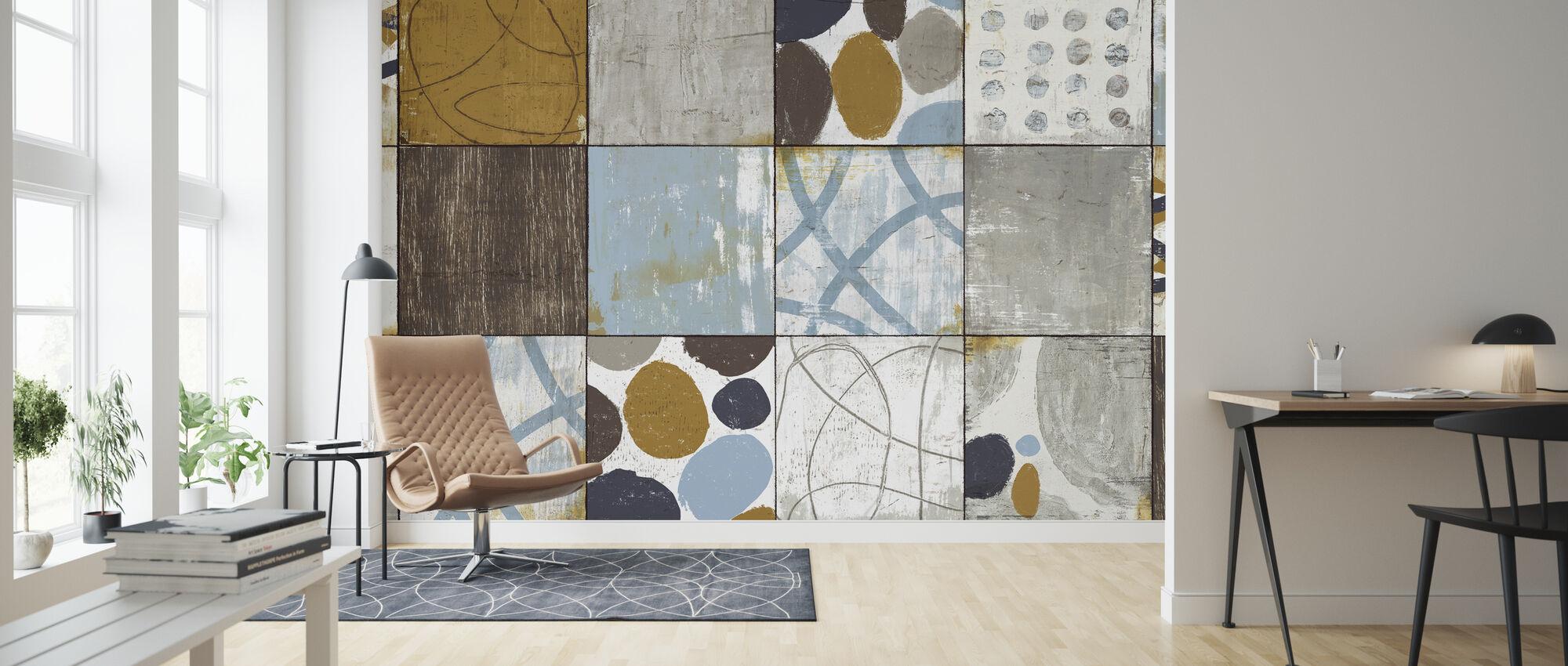 Raw Sienna - Wallpaper - Living Room