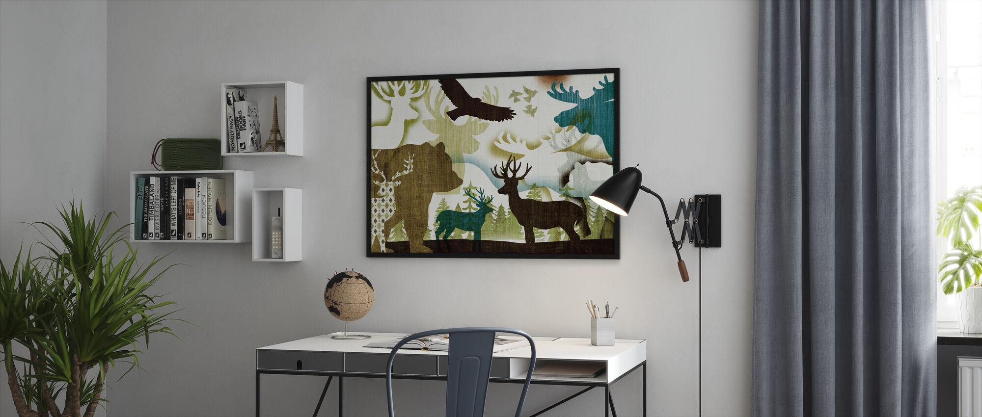 Dweller Collage I - Framed print - Office
