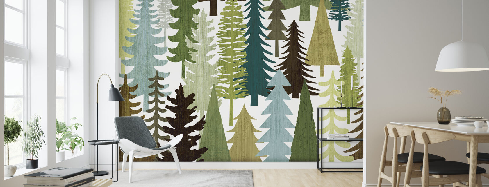 Woodland Trees - Wallpaper - Living Room