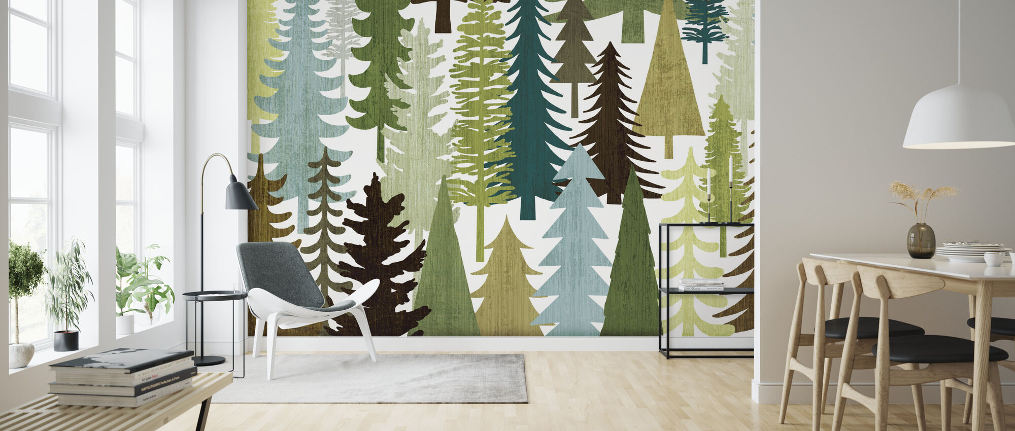 Woodland Trees - Wallpaper - Living Room