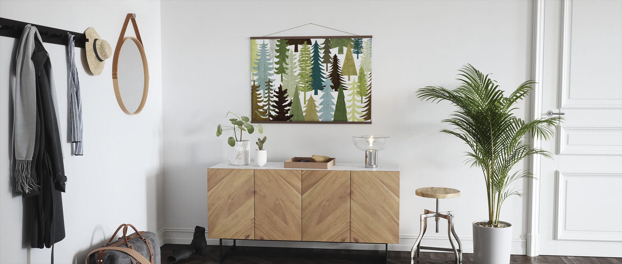 Woodland Trees - Poster - Hallway