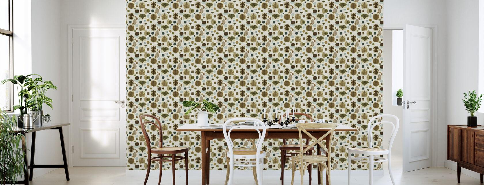 Woodland Sweet Leaves Pattern - Wallpaper - Kitchen