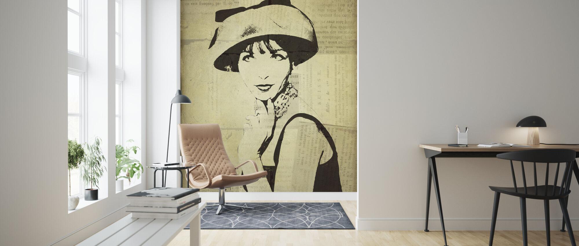 Fashion News I - Wallpaper - Living Room