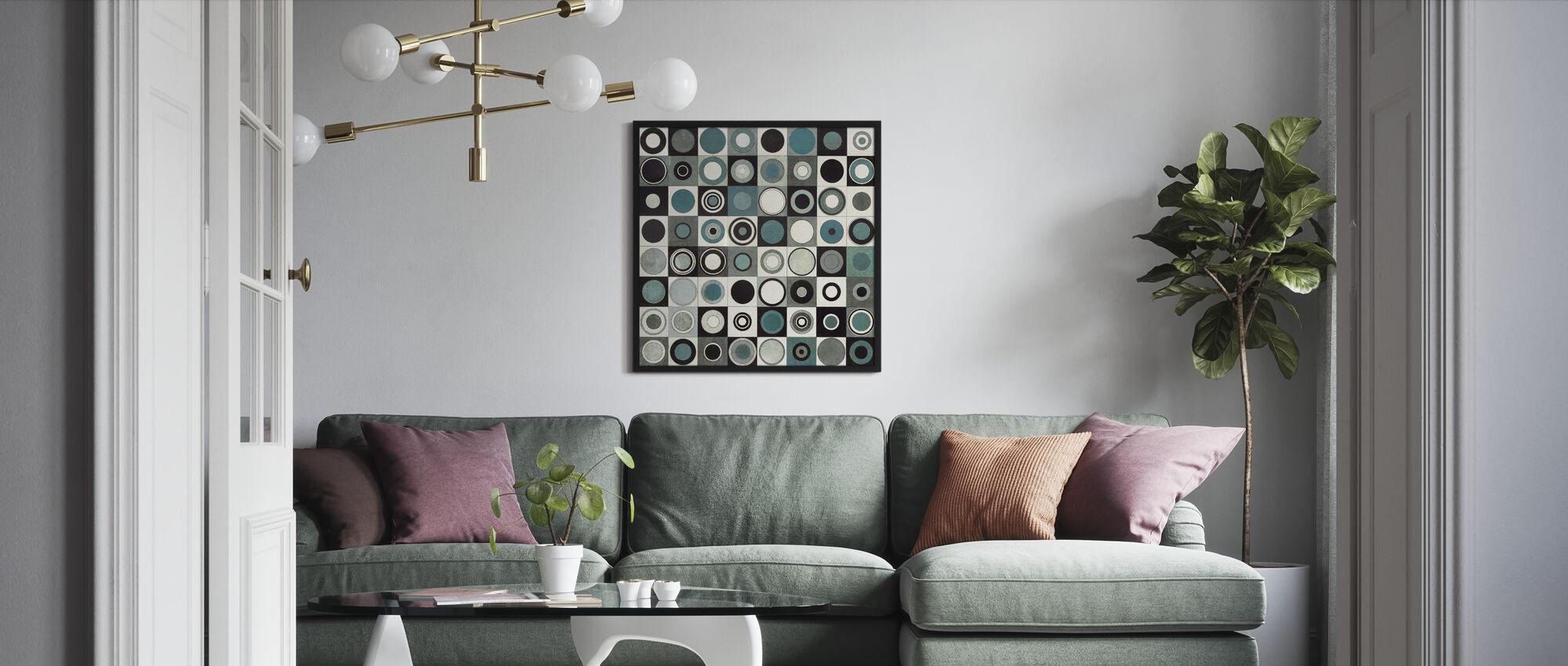 Carnaby Street Blå - Innrammet bilde - Stue
