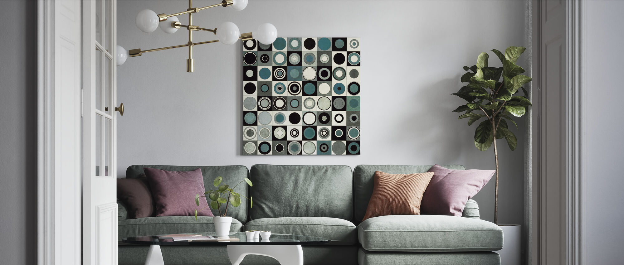 Carnaby Street Blauw - Canvas print - Woonkamer