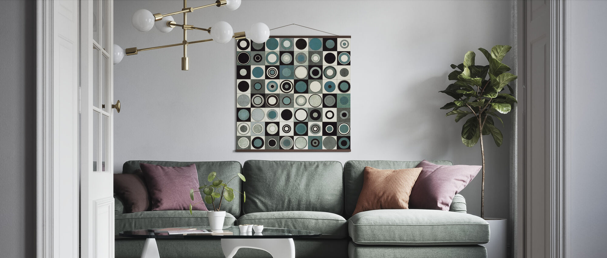 Carnaby Street Blue - Poster - Living Room