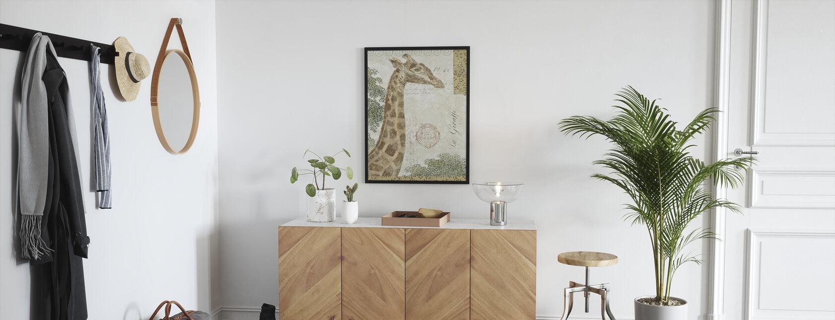 La Giraffe - Ingelijste print - Gang