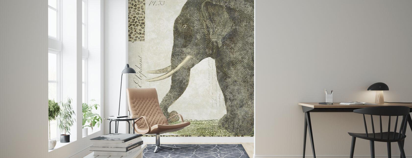 L Elephant - Wallpaper - Living Room