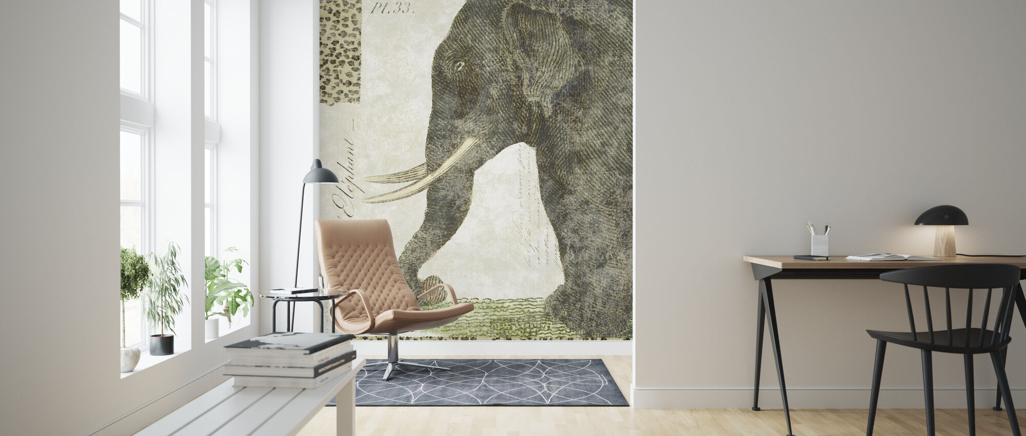L Elephant - Wallpaper - Living Room