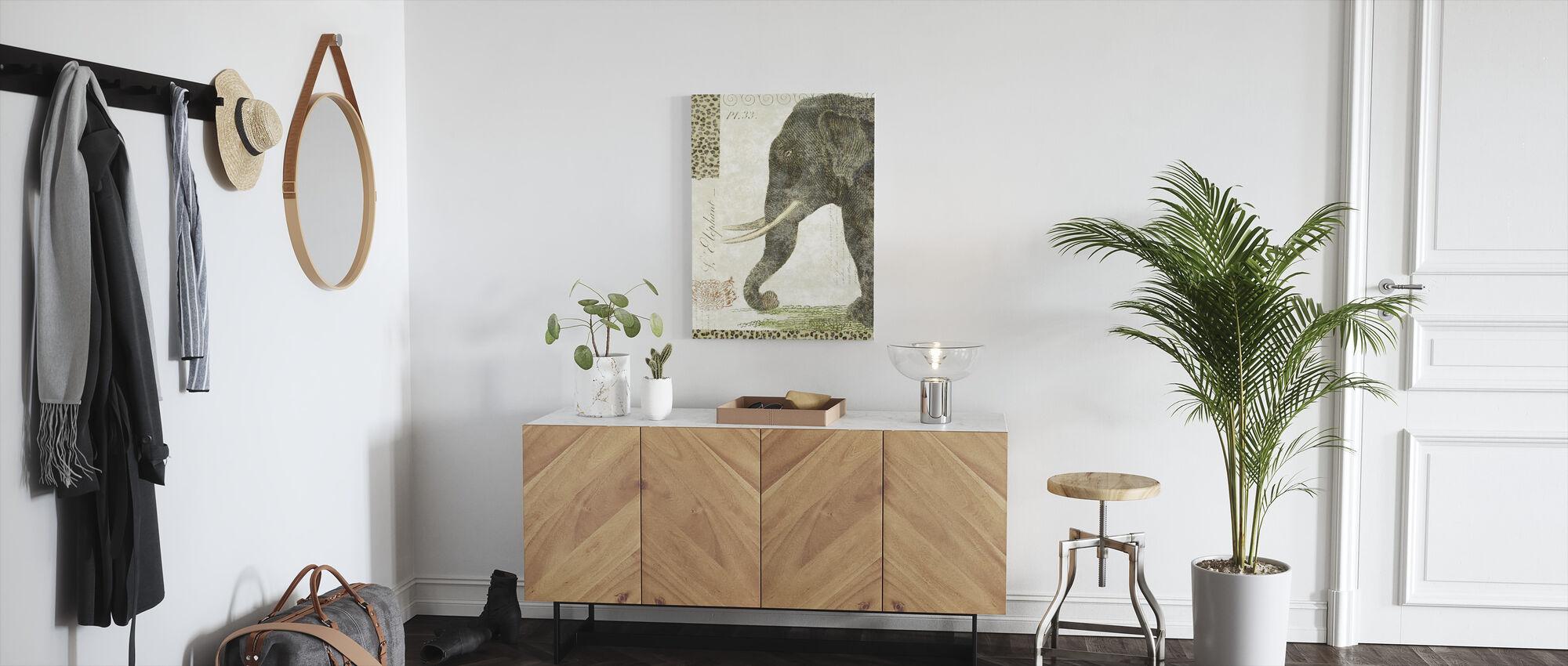 L Elefant - Canvastavla - Hall