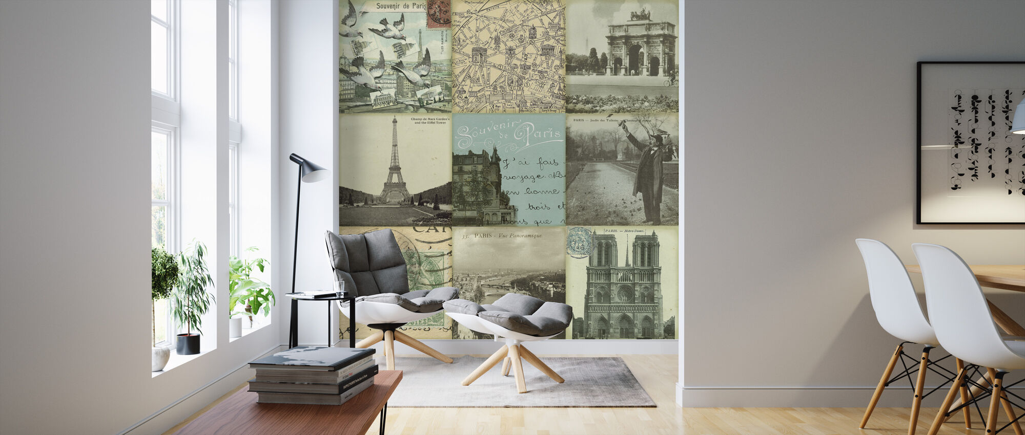 Postcard - Wallpaper - Living Room