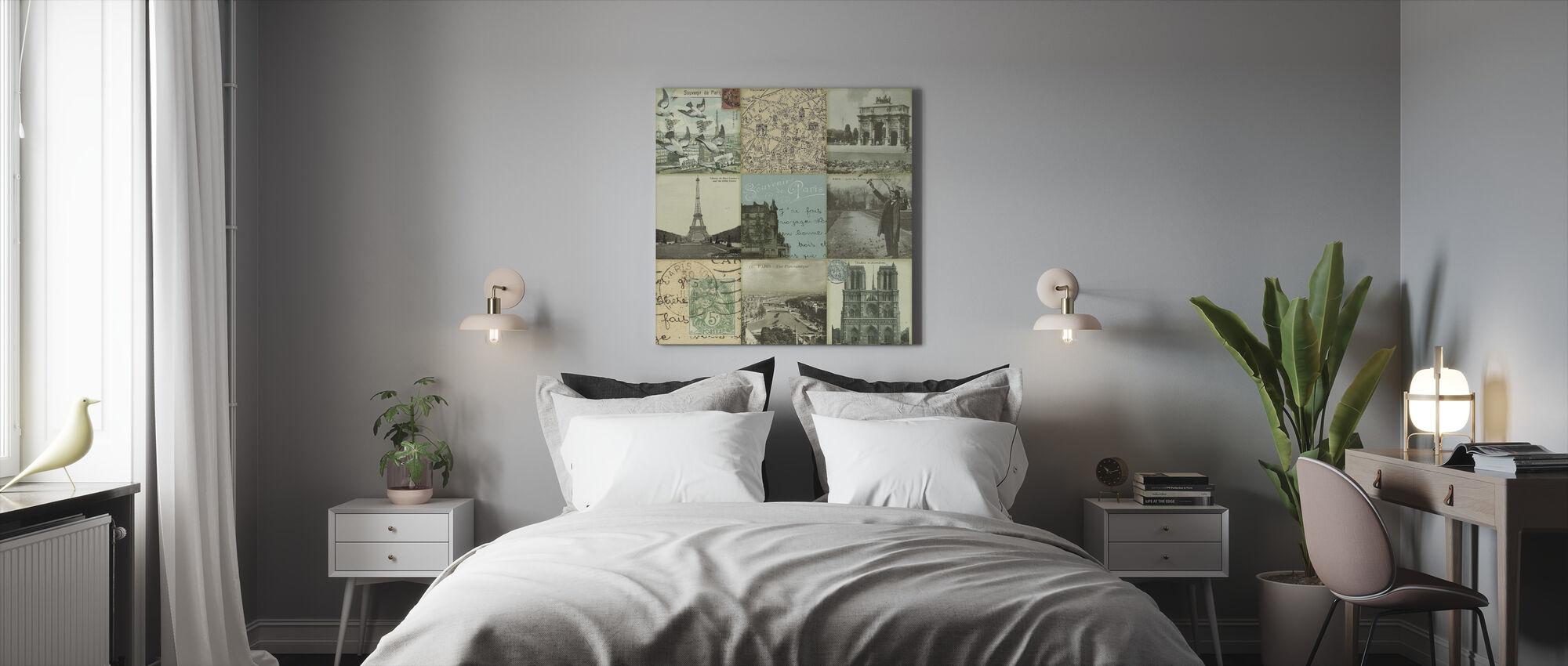 Postcard - Canvas print - Bedroom