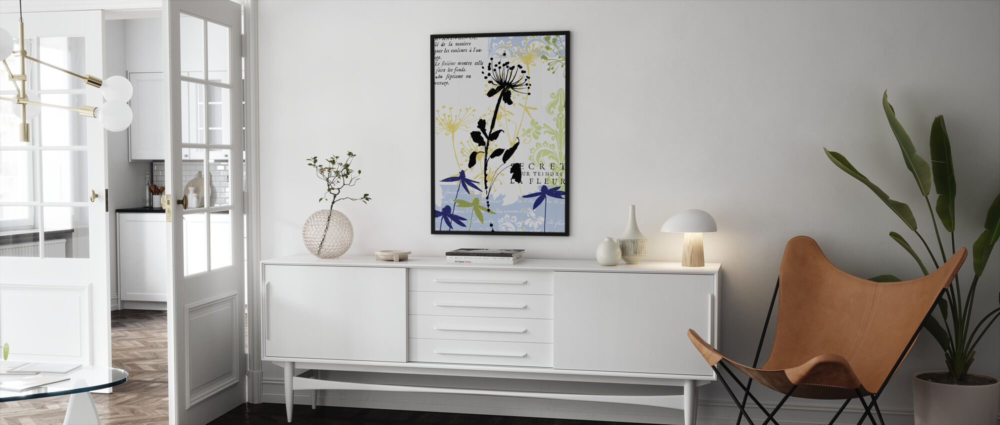 Funky Botanical II - Framed print - Living Room