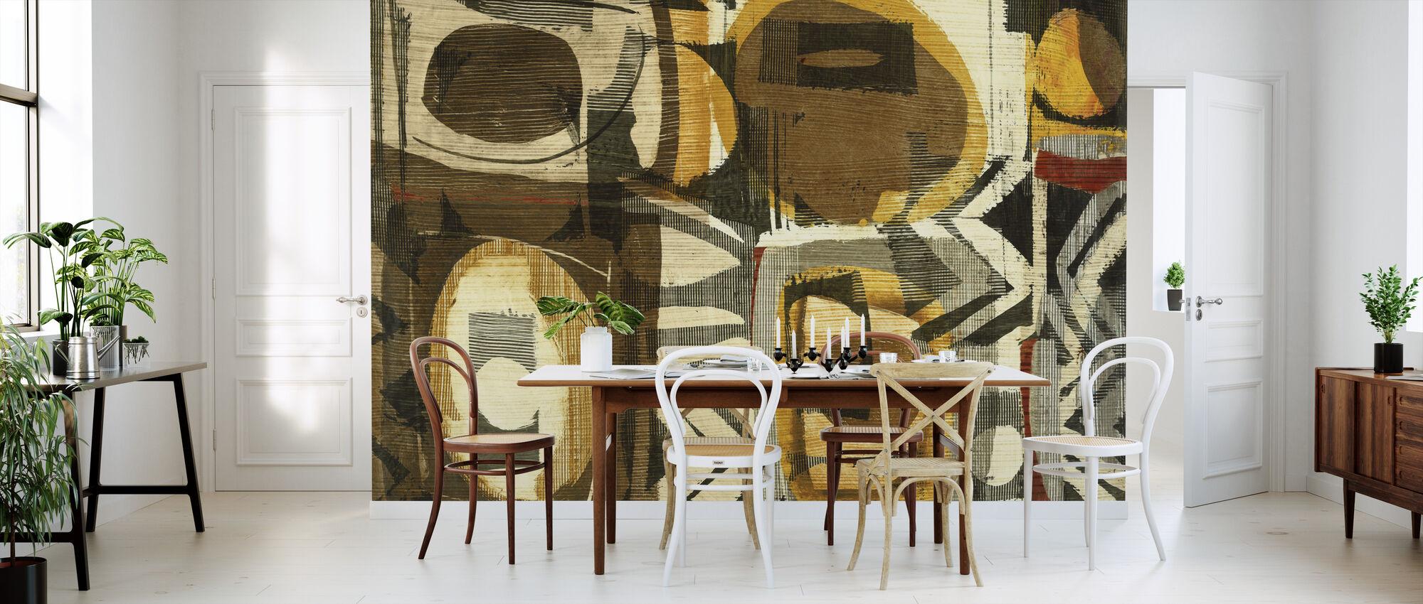 Grafisch abstract I - Behang - Keuken