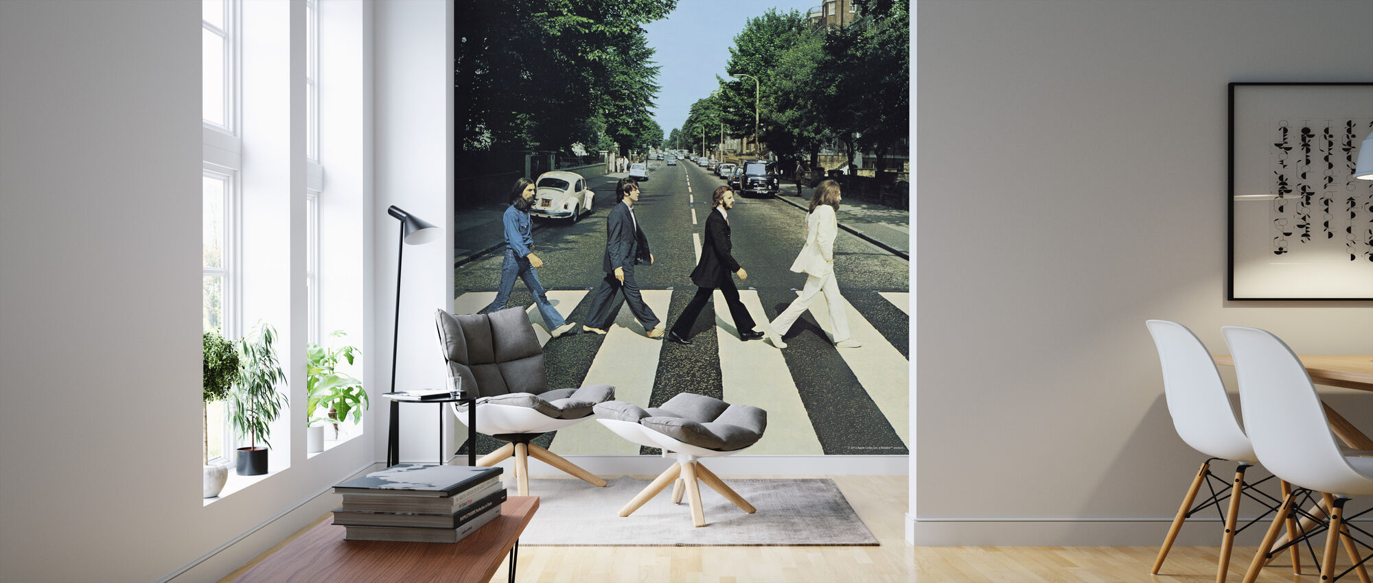 Beatles - Abbey Road - Tapet - Vardagsrum