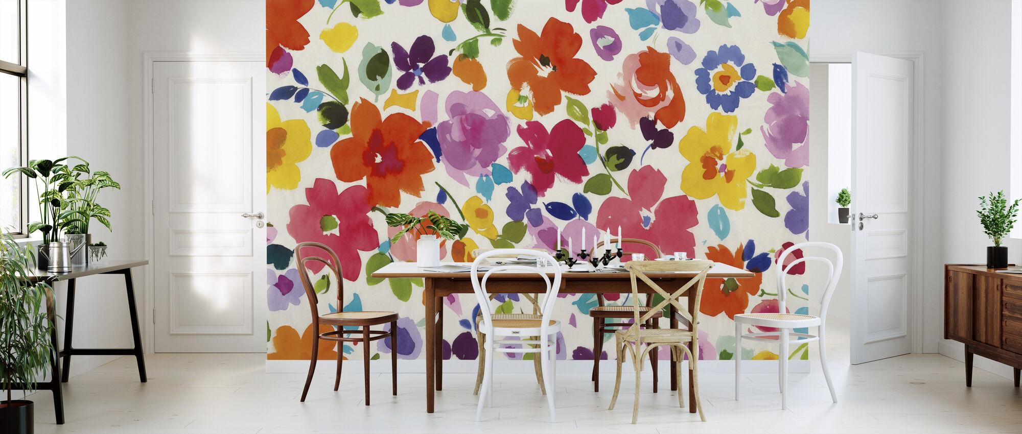 Bright Florals - Wallpaper - Kitchen