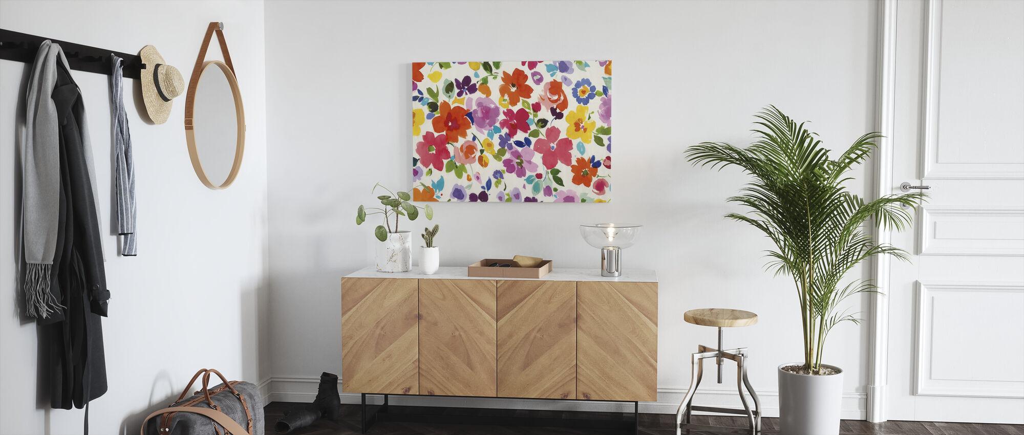 Bright Florals - Canvas print - Hallway