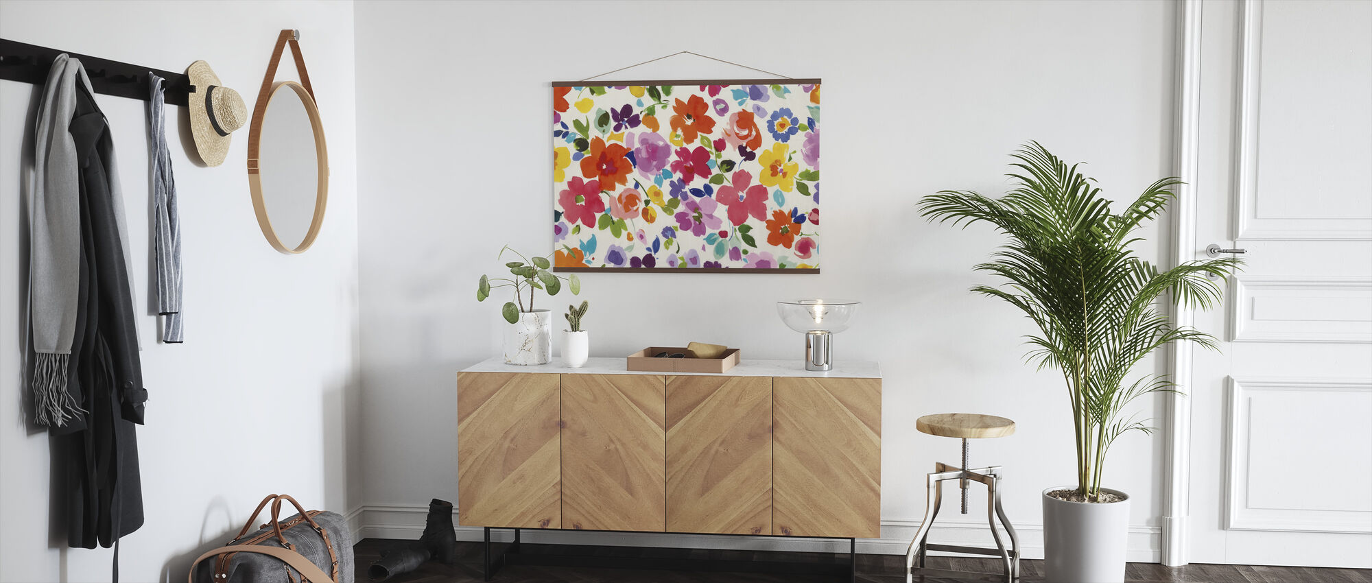 Bright Florals - Poster - Hallway