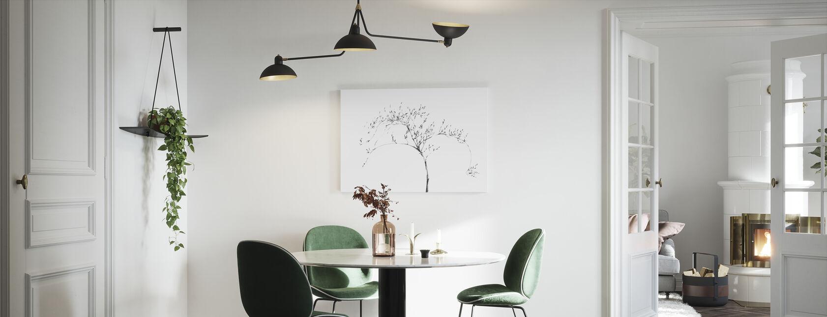 Graphite Twig - Canvas print - Kitchen