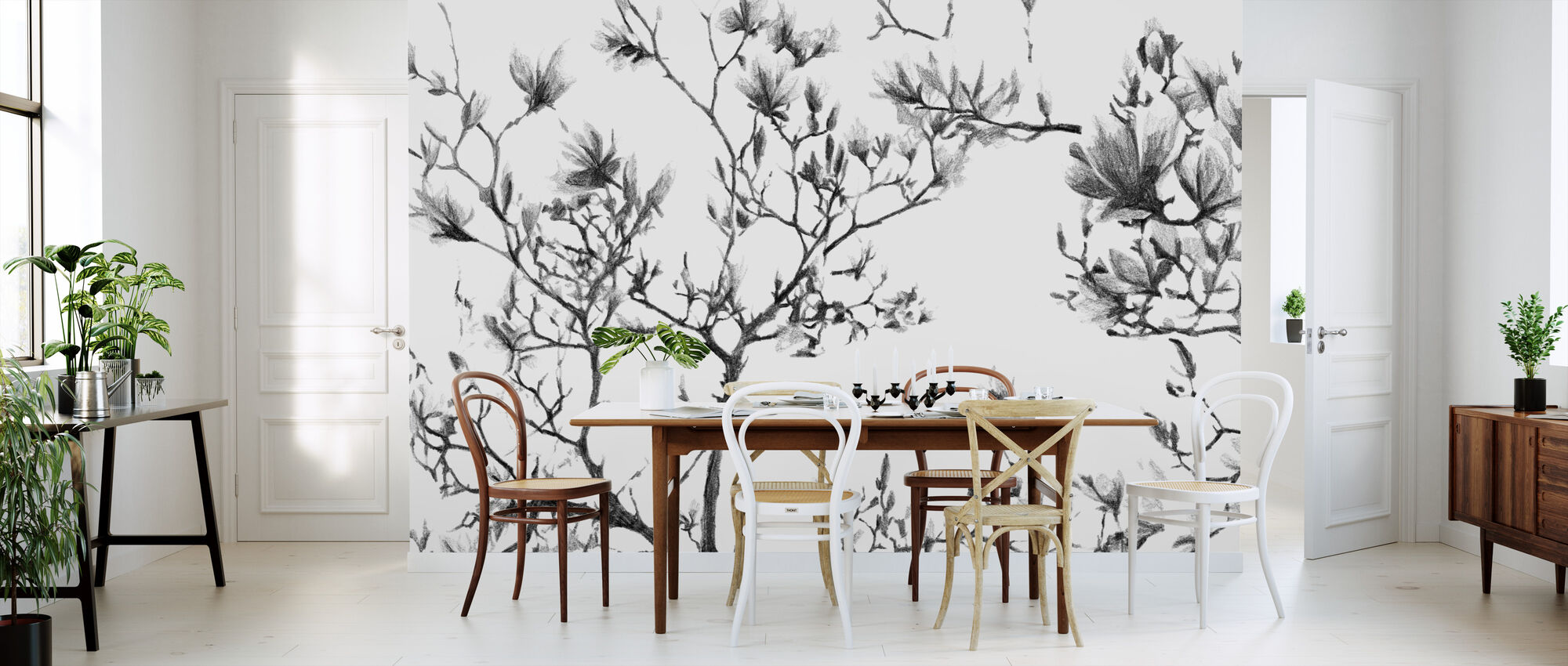 Magnolia Sketch - Wallpaper - Kitchen
