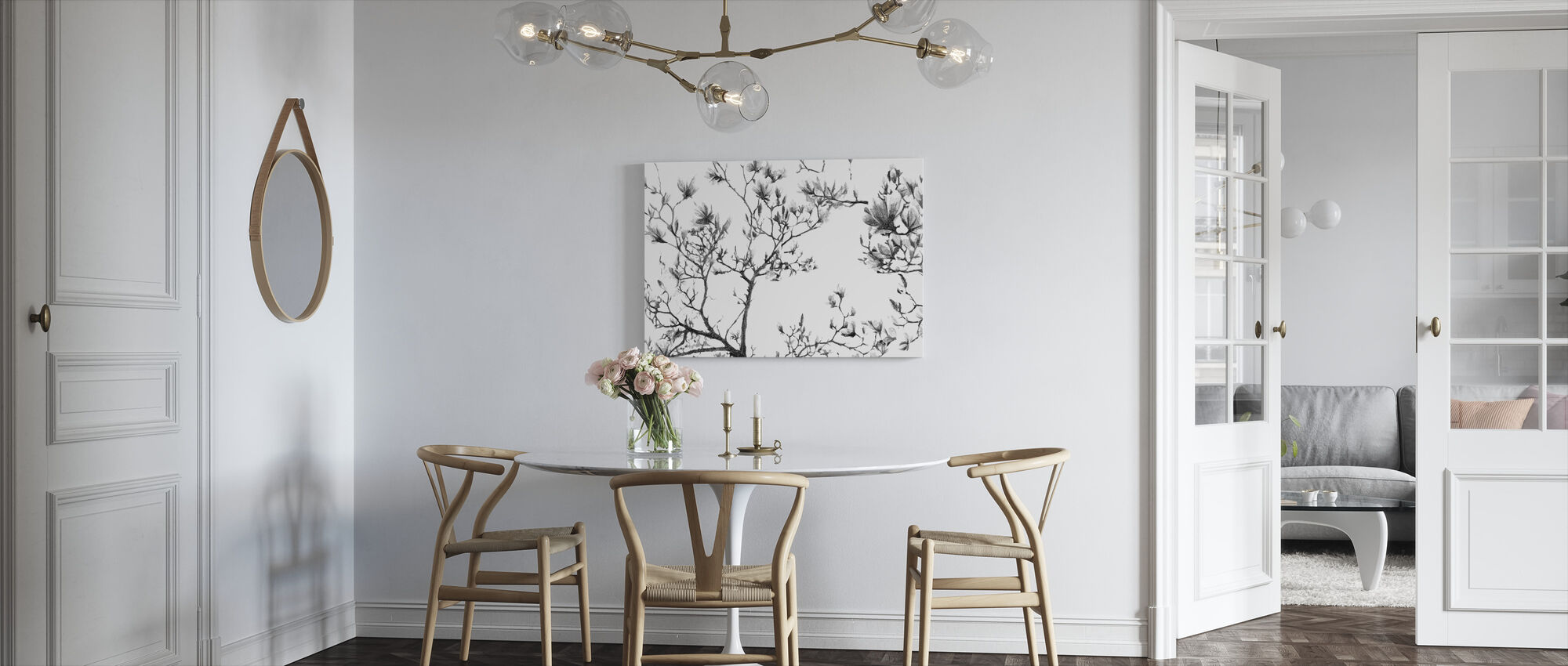 Magnolia Sketch - Canvas print - Kitchen