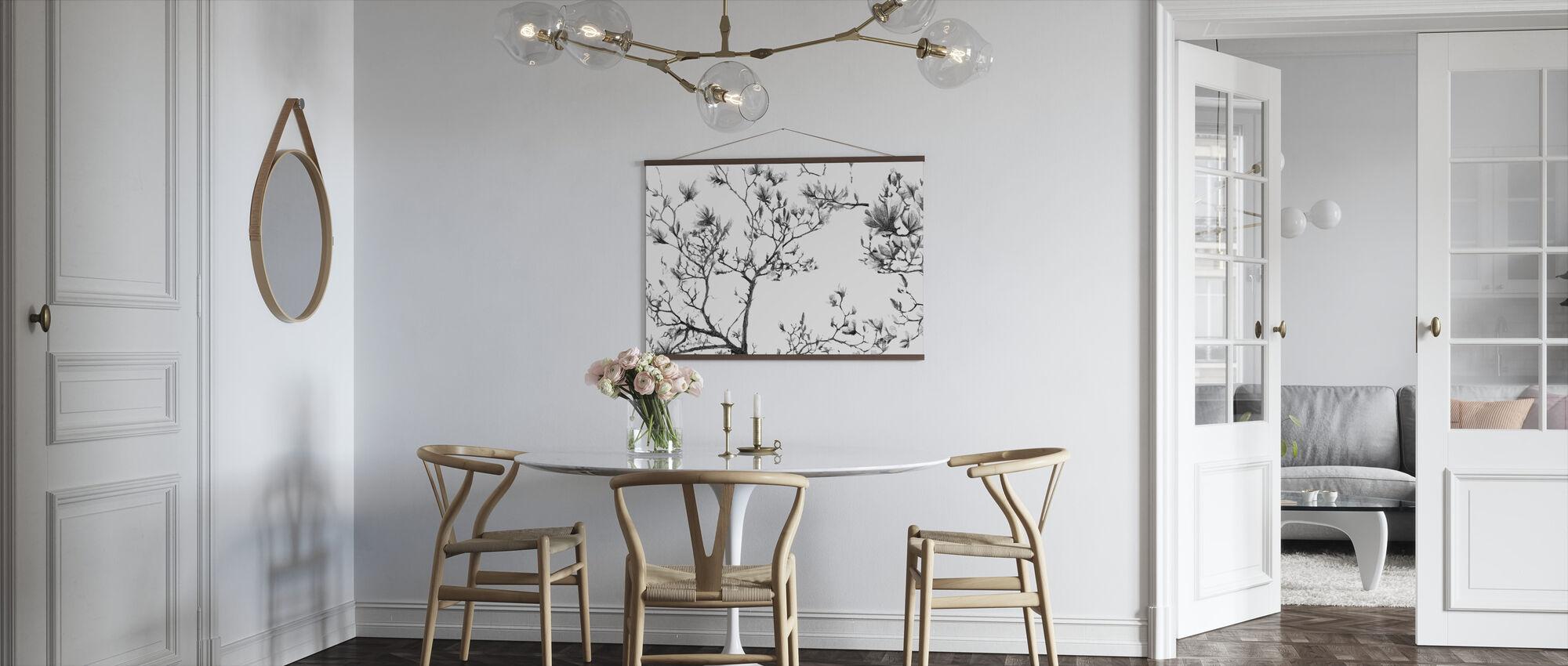 Magnolia Sketch - Poster - Kitchen
