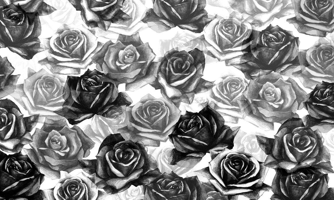 My Black Roses Popular Wall Mural Photowall