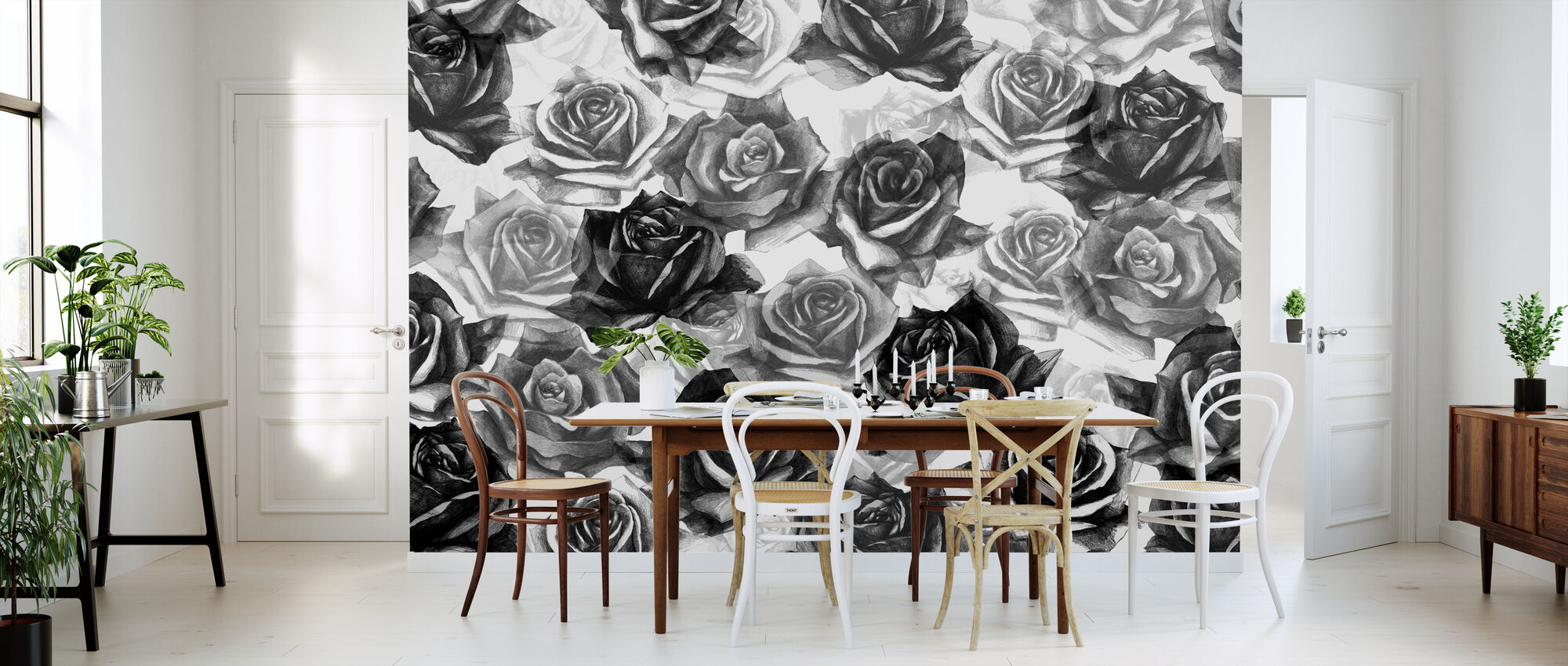 Mis rosas negras - Papel pintado - Cocina