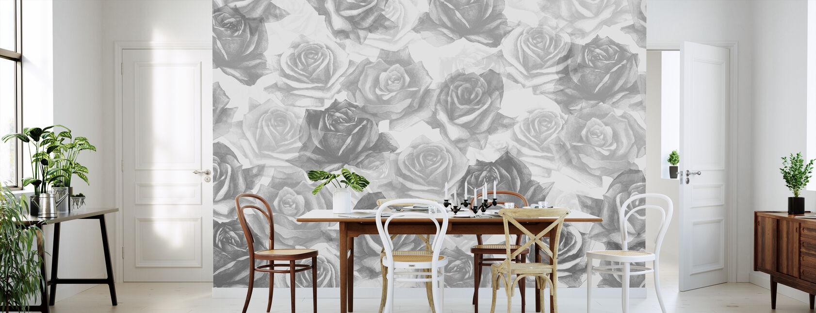 Mine grå roser - Tapet - Kjøkken