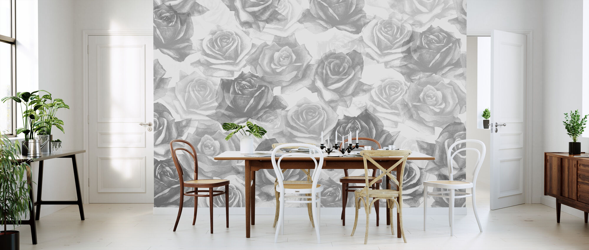 My Grey Roses - Wallpaper - Kitchen