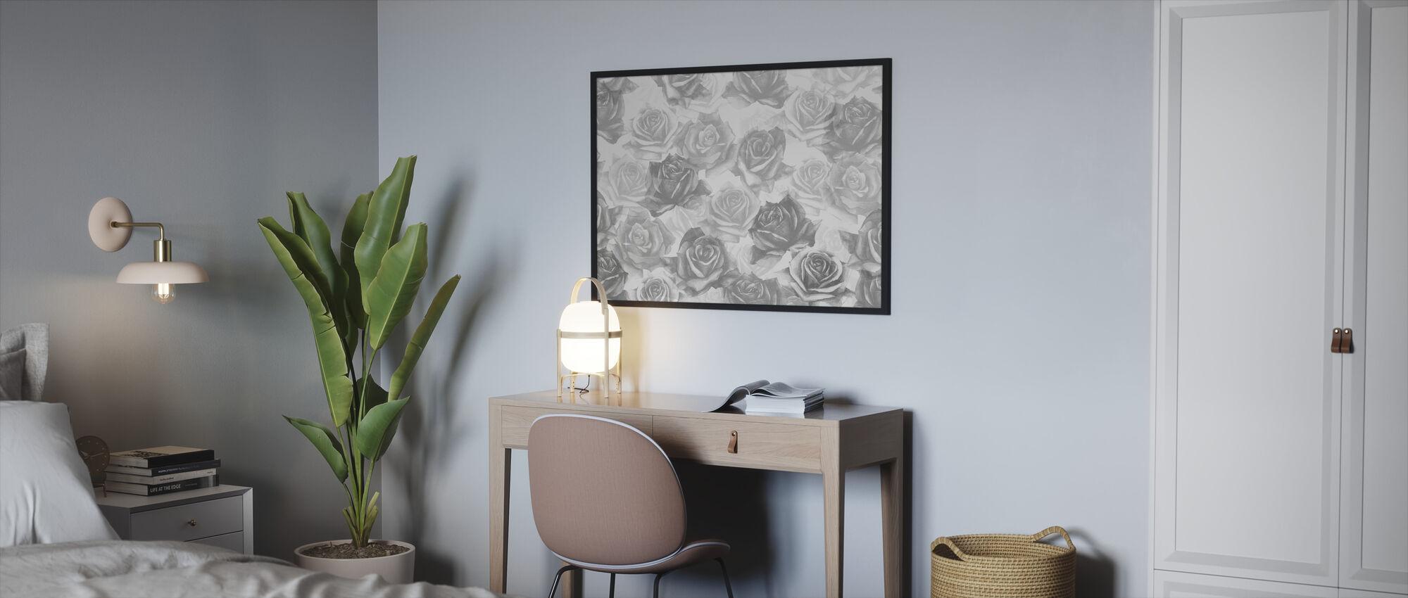 My Grey Roses - Framed print - Bedroom