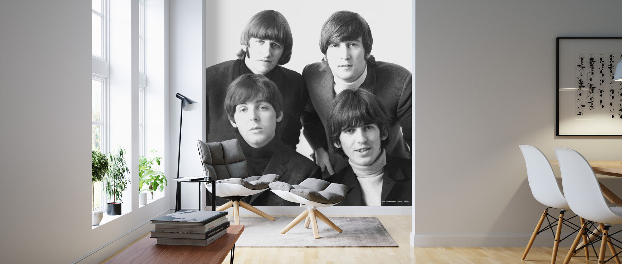The Beatles - Tapet - Stue