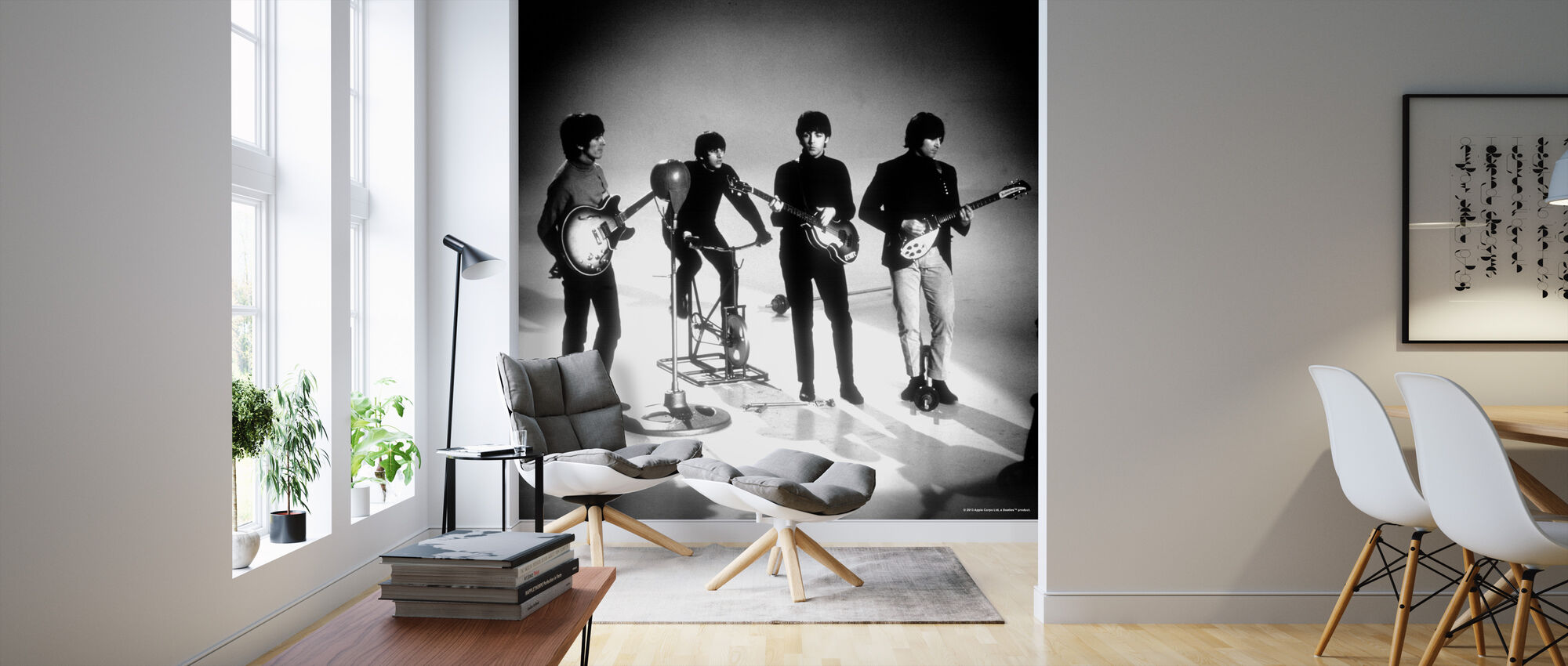 Beatles - Spille - Tapet - Stue
