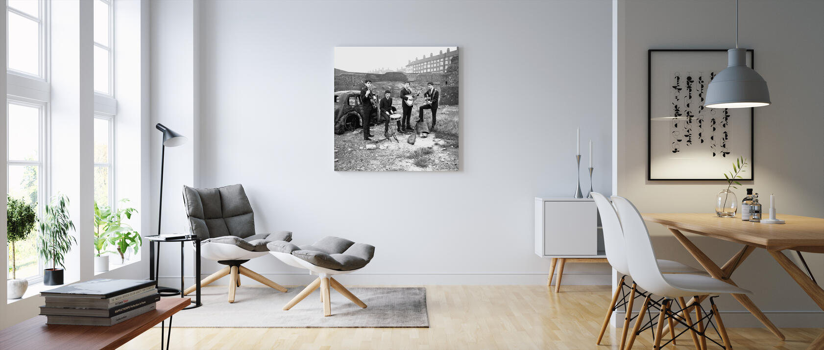 the beatles abandoned car canvastaulu mittojen mukaan photowall. Black Bedroom Furniture Sets. Home Design Ideas