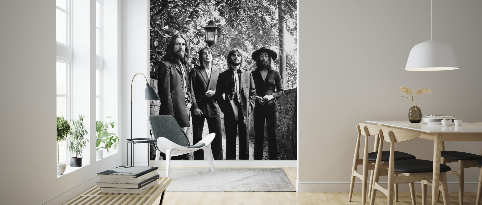 The Beatles - Finale Fotosession 1969 - Tapet - Stue