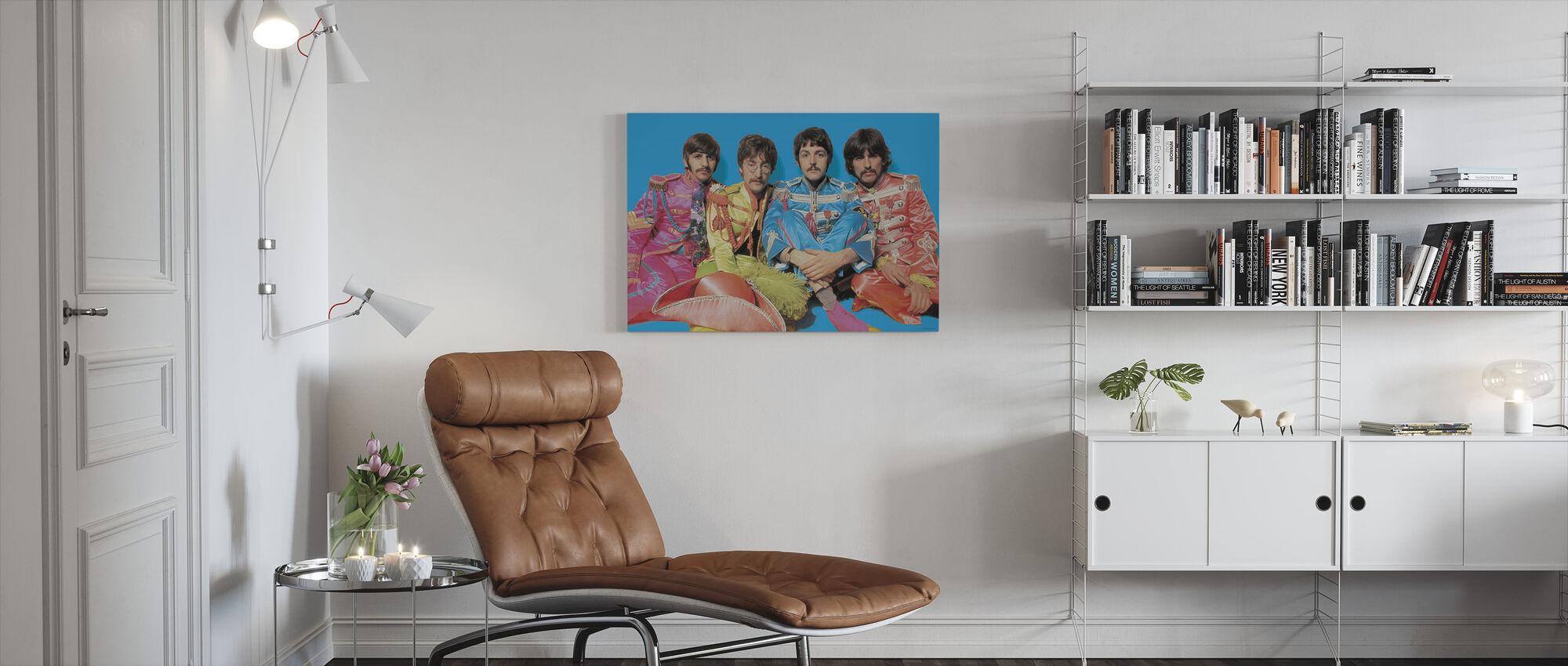 Beatles - Kersantti Pepperit Yksinäiset sydämet Club Band - Canvastaulu - Olohuone