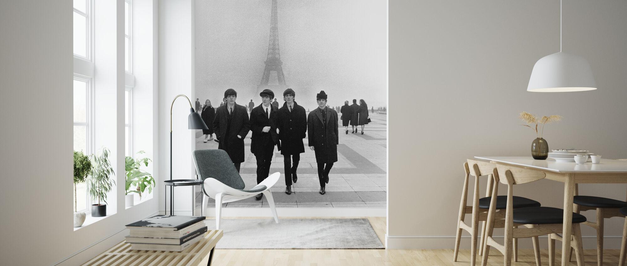 The Beatles - In Paris - Wallpaper - Living Room