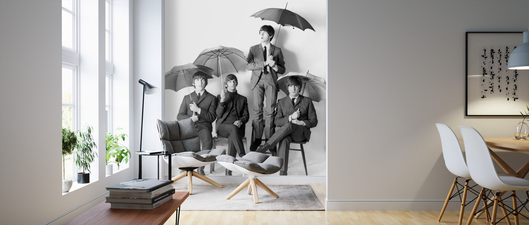 The Beatles - Umbrellas - Wallpaper - Living Room