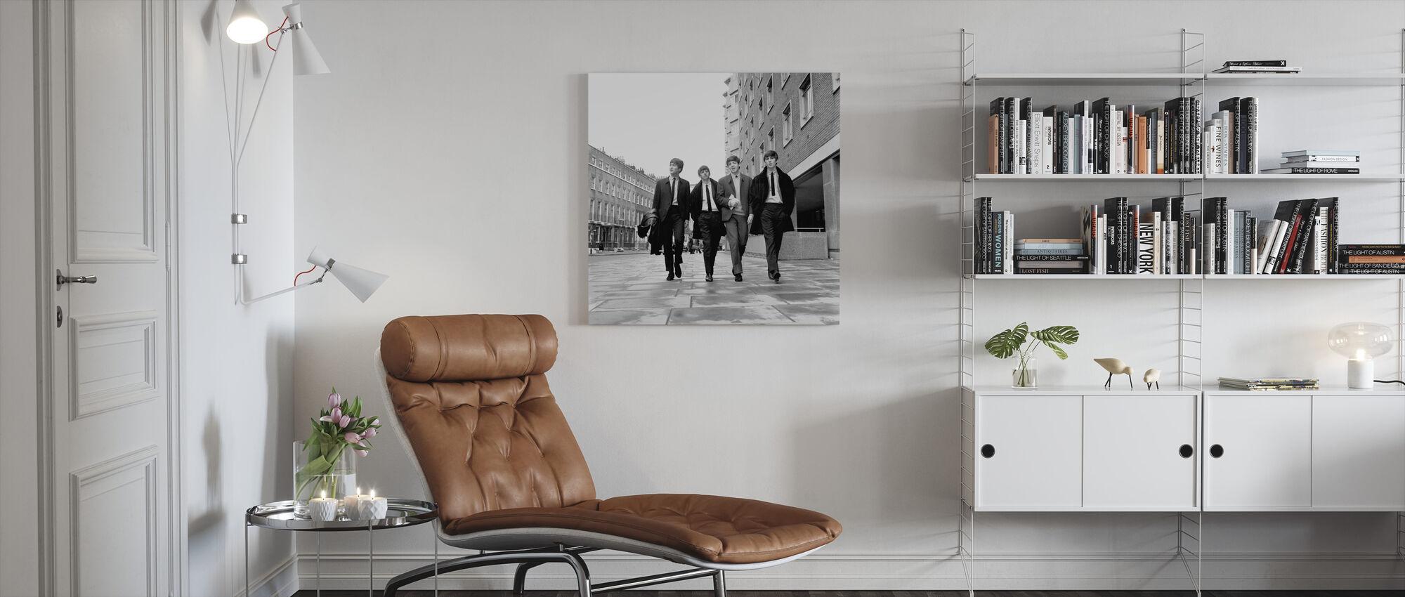 De Beatles - Trottoir - Canvas print - Woonkamer