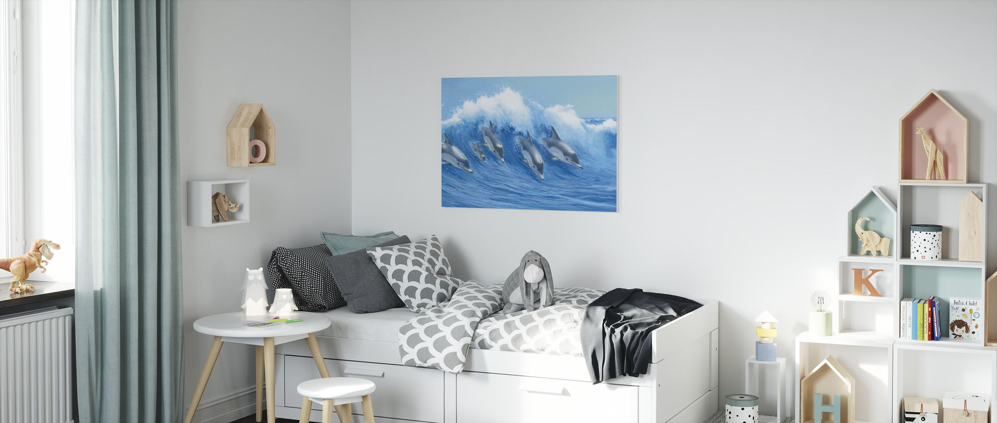 Leaping Dolphins - Canvas print - Kids Room