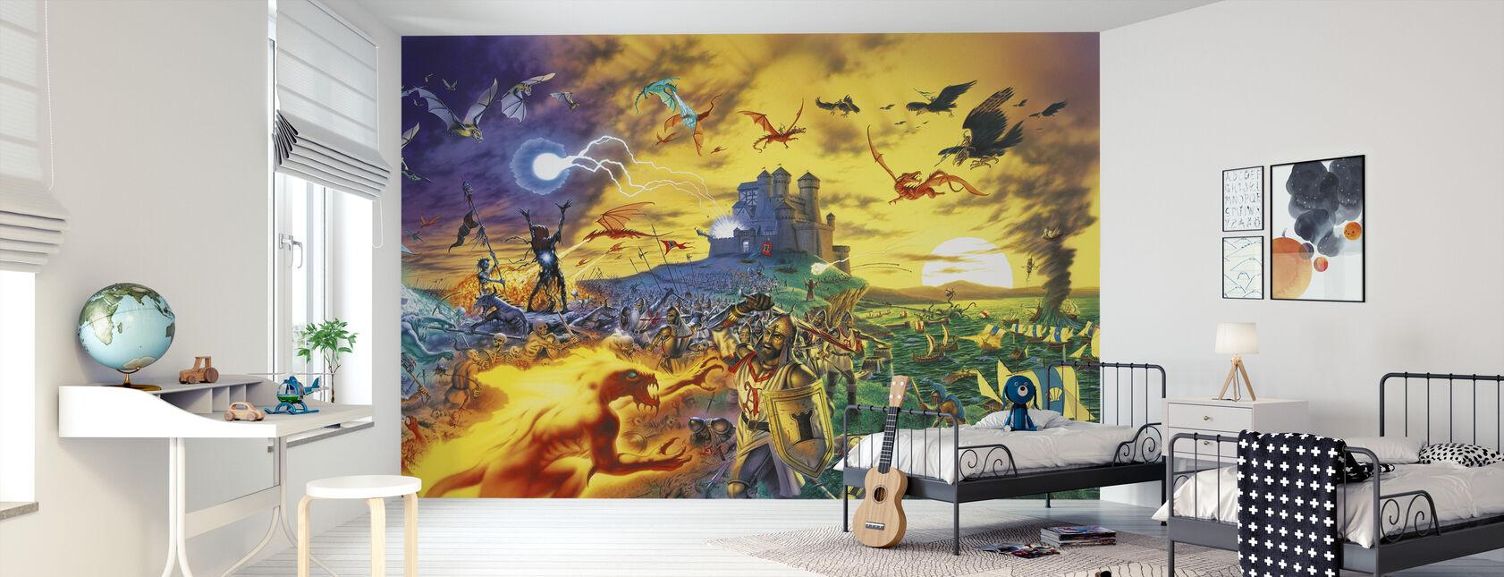 Fantasy Battle - Behang - Kinderkamer