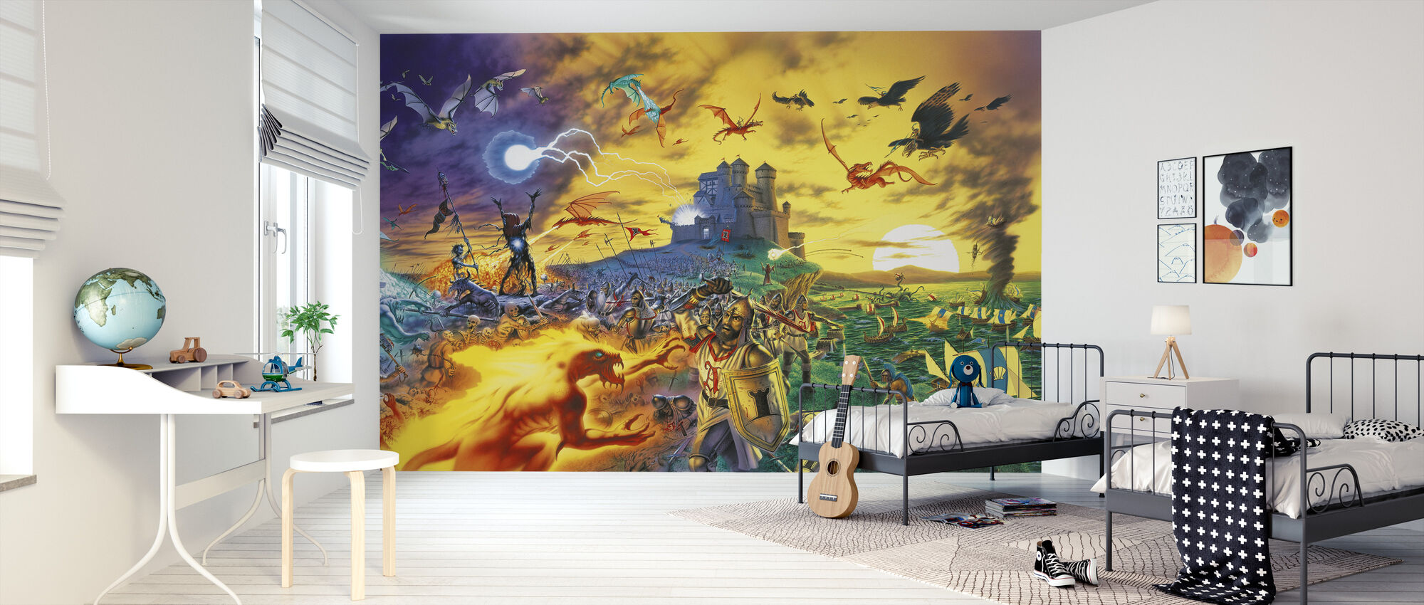 Fantasy Battle - Wallpaper - Kids Room