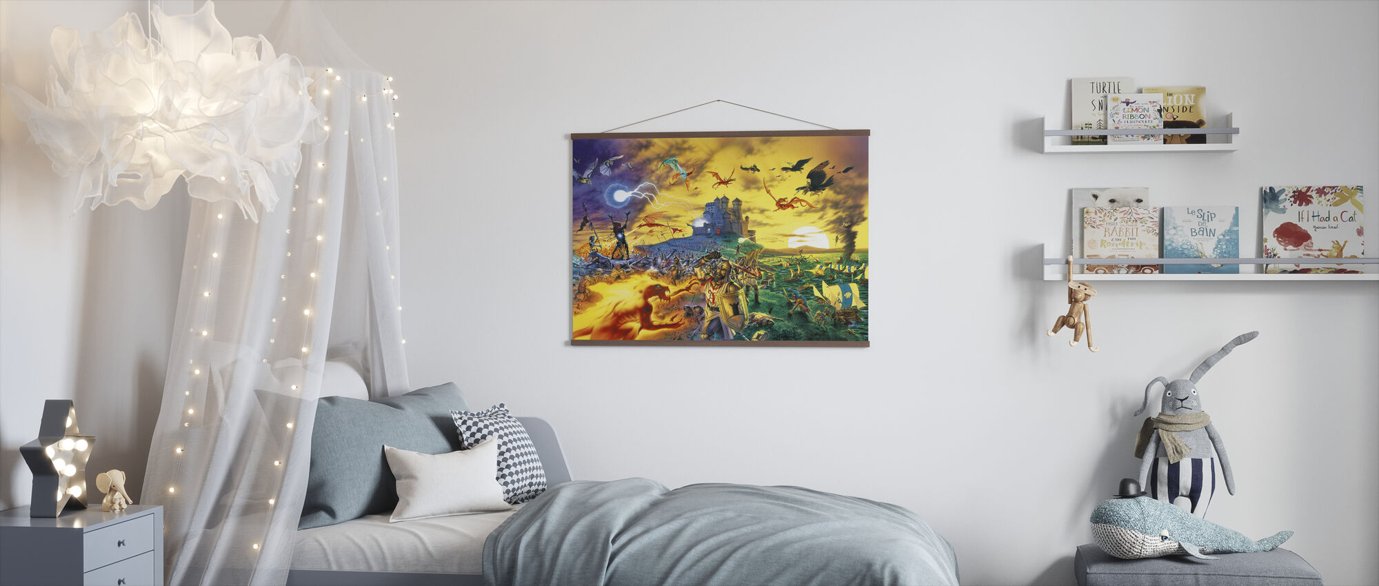 Fantasy Battle - Poster - Kids Room