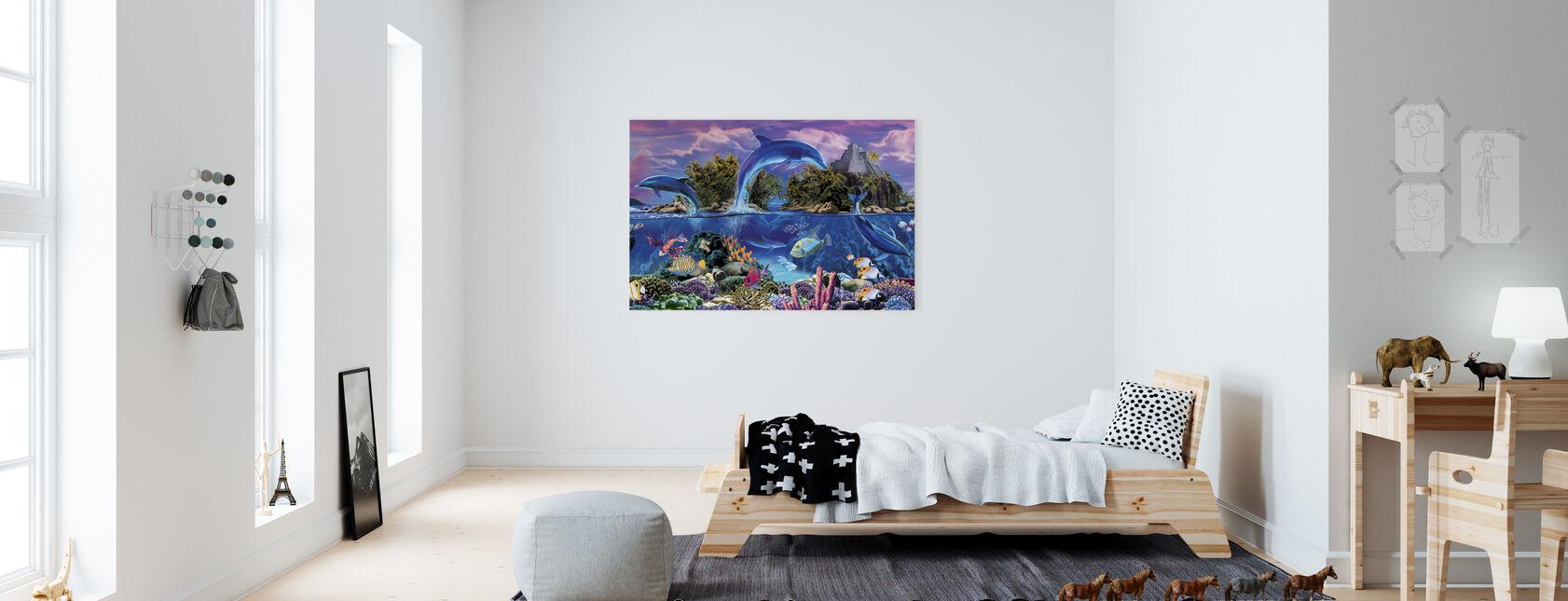 Meren Panorama - Canvastaulu - Lastenhuone