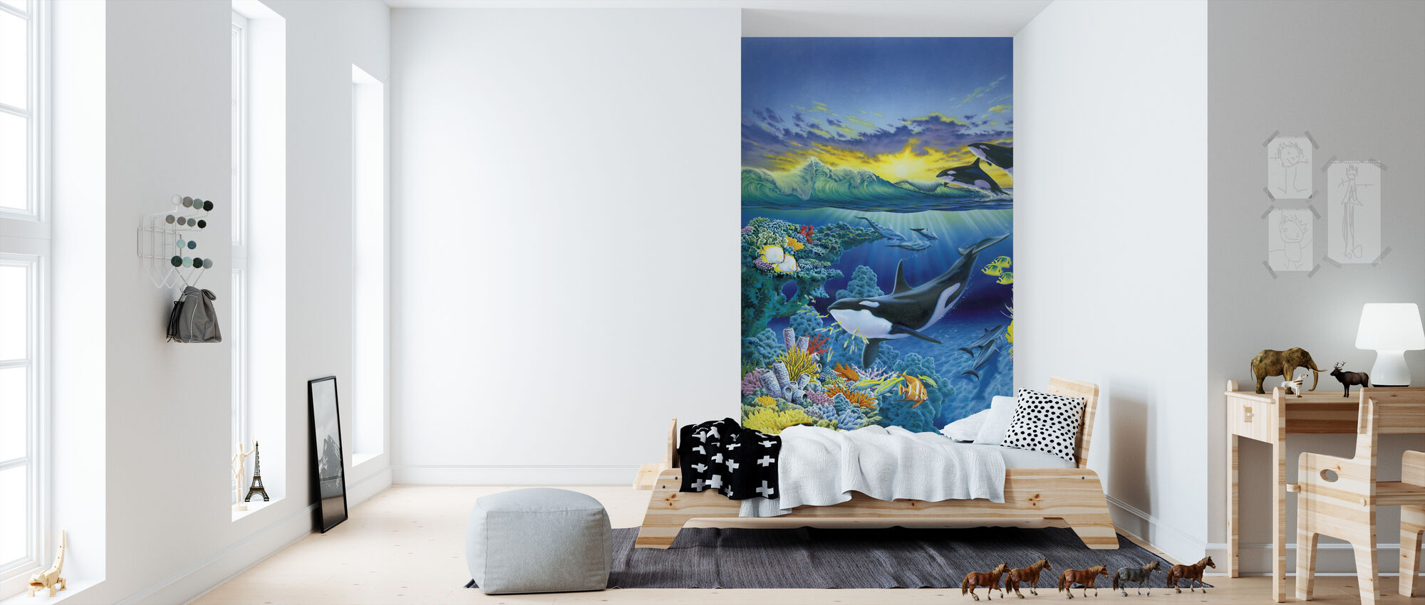 Levende hav - Orca - Tapet - Barnerom