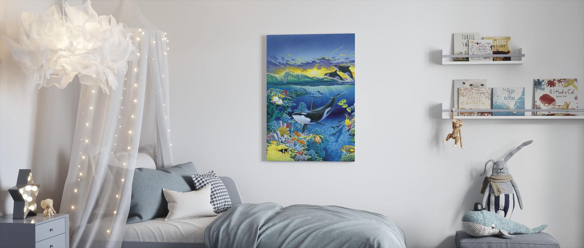 Elävä valtameri - Orca - Canvastaulu - Lastenhuone