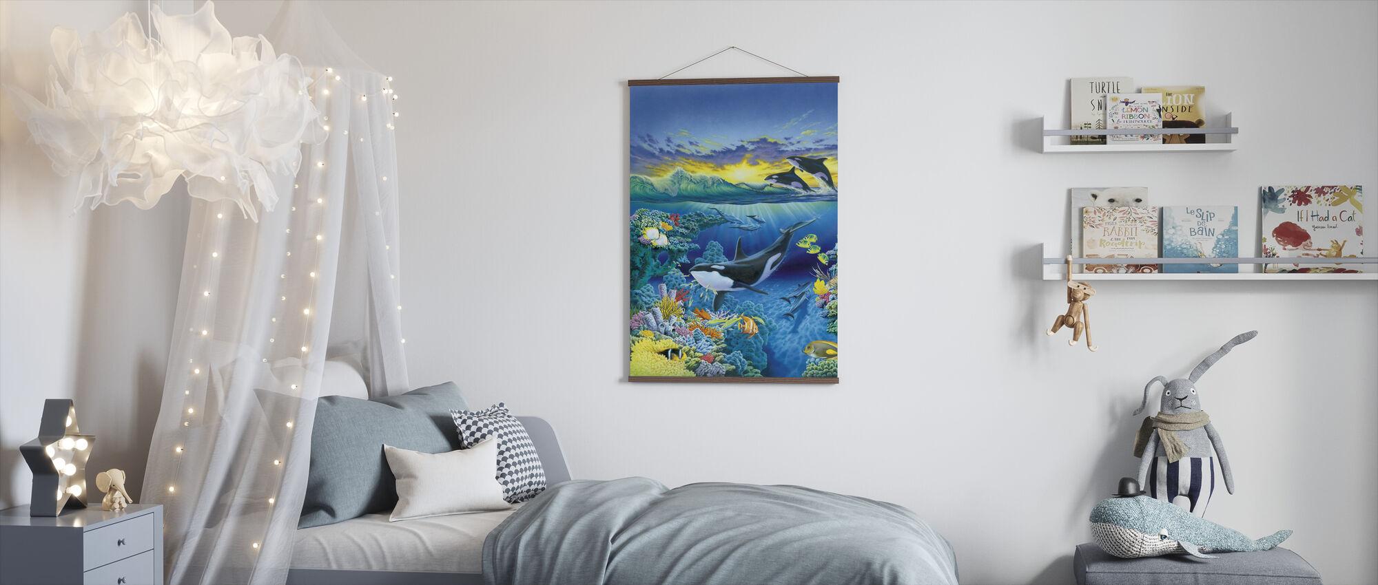 Levande hav - Orca - Poster - Barnrum
